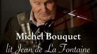 Couverture de «Michel Bouquet lit Jean de La Fontaine», direction artistique Ulysse Di Gregorio.