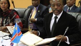 Le président congolais Joseph Kabila, à Kampala en 2013.