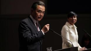 中国外长王毅与挪威外交大臣瑟雷德资料图片