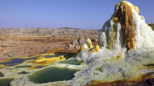 Région géothermique de Dallol, dépression de Danakil, en Ethiopie.