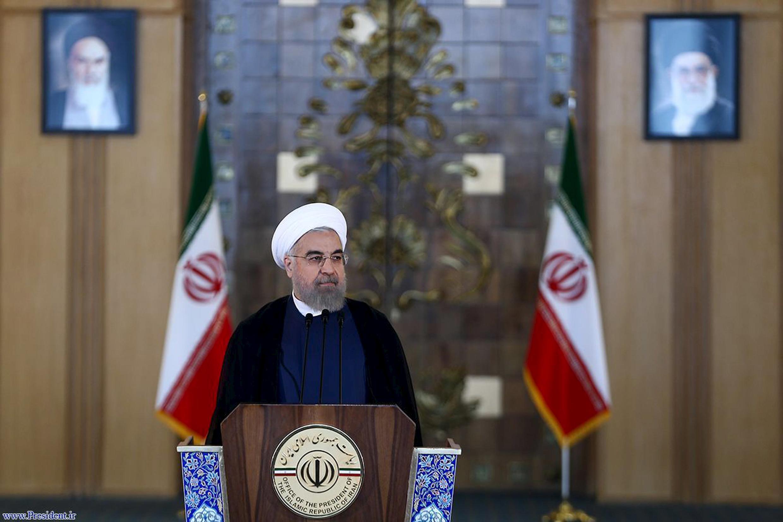 Tổng thống Iran Hassan Rouhani, phát biểu trước toàn quốc sau khi thỏa thuận được ký kết, ngày 14/07/2015.