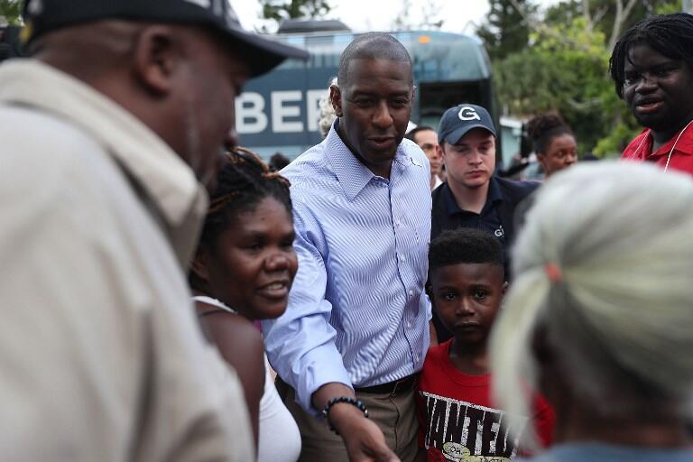Andrew Gillum, candidato democrata ao governo da Flórida, durante campanha em Fort Lauderdale.