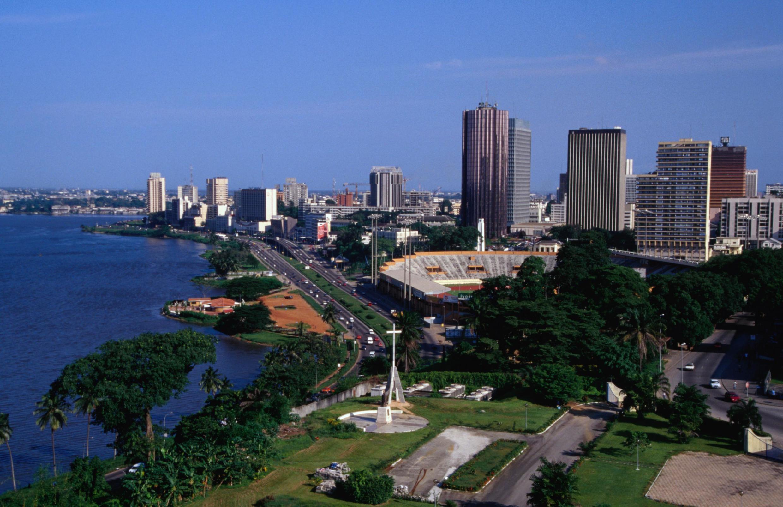 Moja ya maeneo ya mji wa Abidjan,, Cote d'Ivoire.
