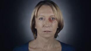 Cena do vídeo da campanha do governo francês na luta contra violência às mulheres.