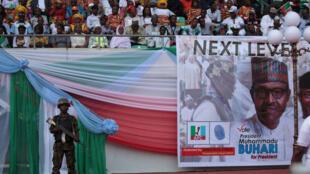 Campagne en faveur de Muhammadu Buhari, ici à Uyo le 28 décembre 2018.