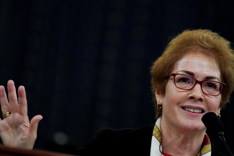 Nữ cựu đại sứ Mỹ tại Ukraina, Marie Yovanovitch, tại Washington, ngày 15/11/2019.