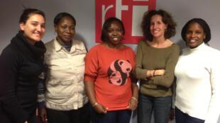 Cynthia Dadah, Fatimatou Diallo, Florence Ntererwa Furaha, Emmanuelle Bastide, Fatou N'Diaye.