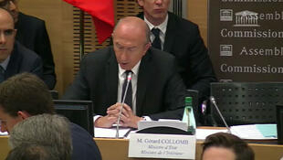 French Interior Minister Gérard Collomb at a Parliamentary hearing, 23 July 2018