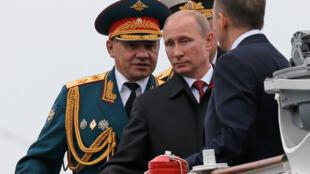 Vladimir Poutine em visita à Crimeia no último dia 9 de maio.