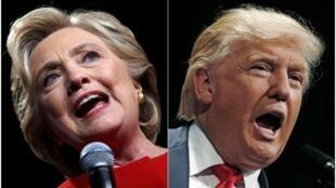 Hillary Clinton ta Democrat da Donald Trum na Republican da ke takaran shugaban kasar Amurka