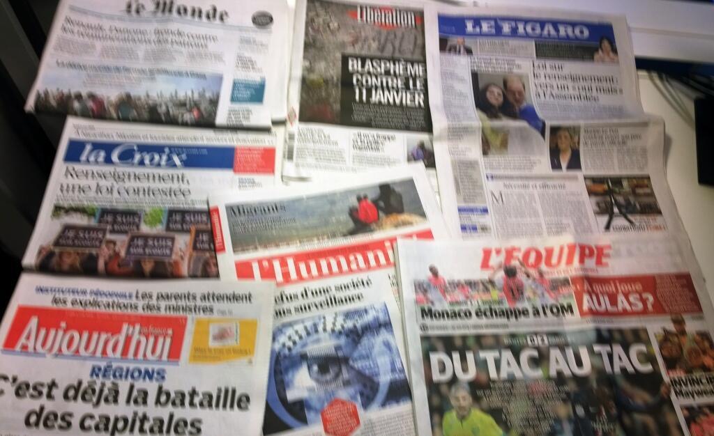Diários franceses 01/05/2015