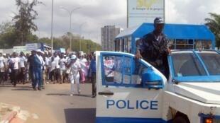 Togo: forces de sécurité en action lors d'une manifestation en 2017 (illustration).