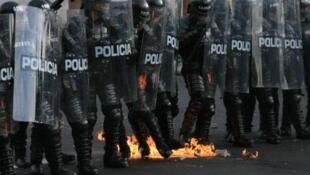Foto de los Escuadrones Móviles Anti-disturbios (ESMAD).