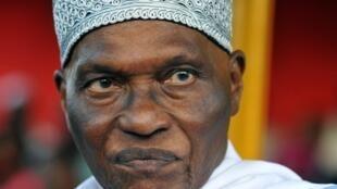 Le président  sortant Abdoulaye Wade, seul candidat du camp libéral.