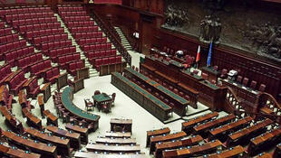 Vue interne du parlement italien.