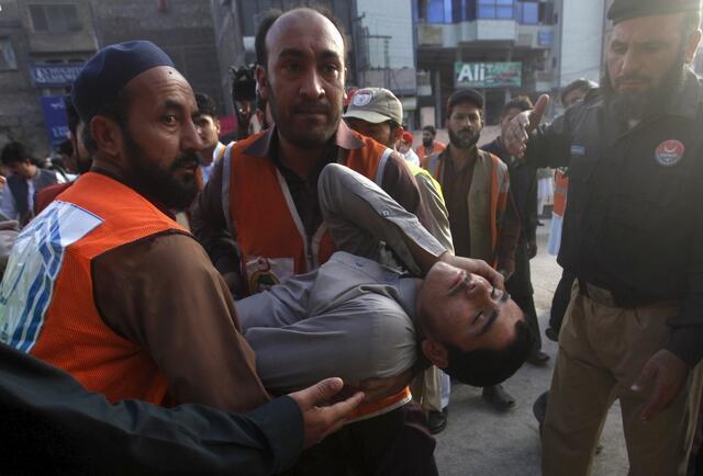 10月26日南亞發生里氏7.5級強烈地震在阿富汗及巴基斯坦北部至少造成200多人死亡。