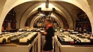 Inside the Elysée cellar