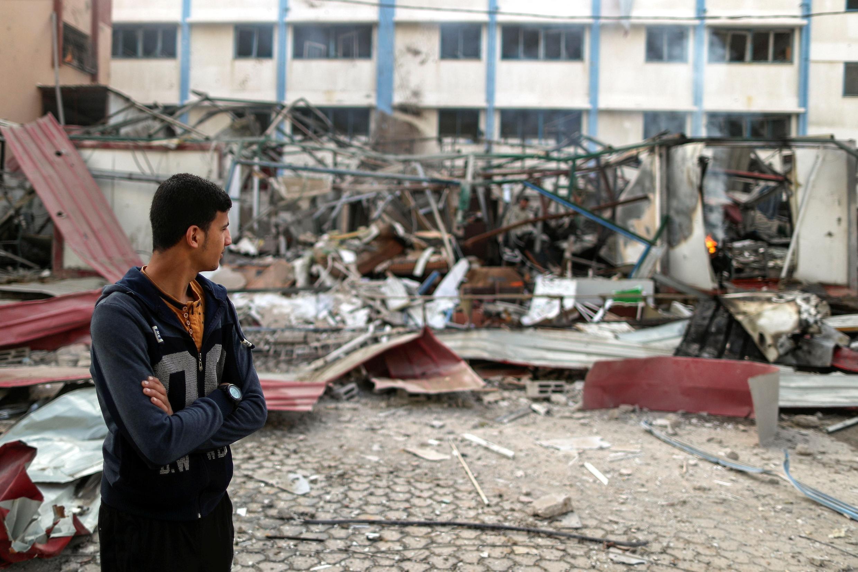 Palestinien après les frappes israéliennes