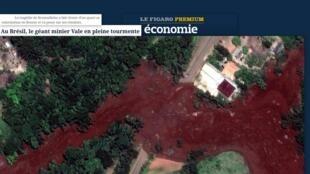 O suplemento econômico do jornal Le Figaro fala sobre a crise na Vale apos a tragédia de Brumadinho