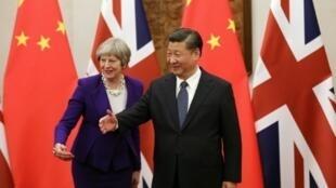习近平会见英国首相特雷莎·梅(2018年2月1日)