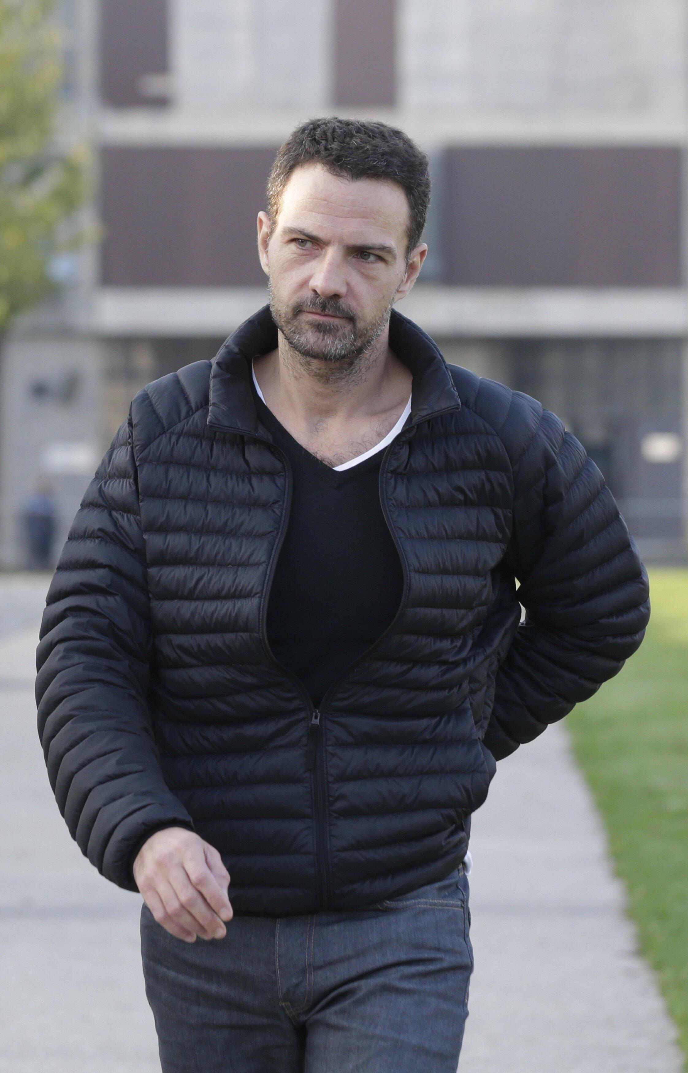 French trader Jerome Kerviel leaves Fleury-Merogis prison near Paris, 8 September 2014.