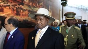 Uganda's President Yoweri Museveni at the African Union summit in Ethiopia, January 2014.