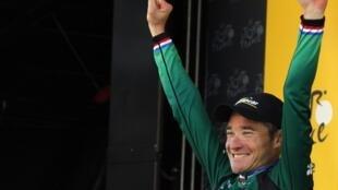 Thomas Voeckler a remporté la 10e étape entre Mâcon et Bellegarde-sur-Valserine, le 11 juillet 2012.