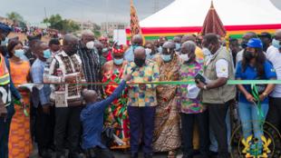 Shugaban Ghana Nana Akufo-Addo yana kaddamar da hanyar Pokuase