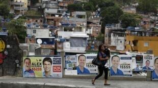 Quang cảnh Rio de Janeiro, trong chiến dịch tuyển cử tháng 10/2014.