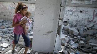 کودکان ساکن نوار غزه پس از عملیات ارتش اسرائیل