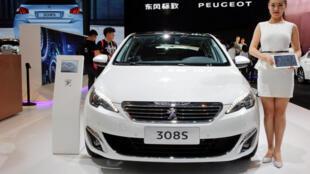 Xe hơi của hãng Peugeot, Pháp, có mặt tại Triển lãm Xe hơi Bắc Kinh, ngày 25/04/2016.