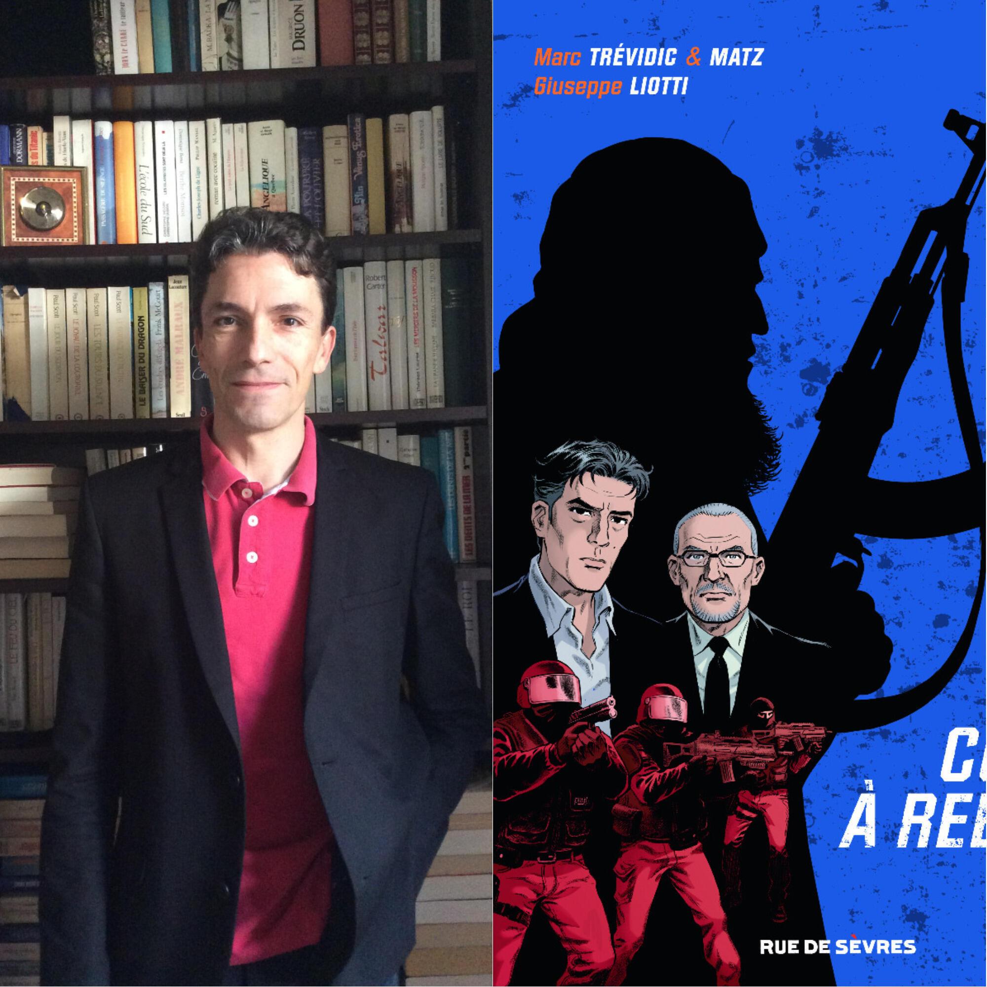 Marc Trévidic, Giuseppe Liotti et Matz présentent le Tome 1 de la bande dessinée «Compte à rebours».