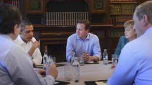 歐美領袖在愛爾蘭G8峰會上, 2013年6月17日