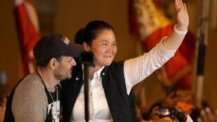 Keiko Fujimori et son mari Mark Vito, le 29 novembre 2019 à Lima.