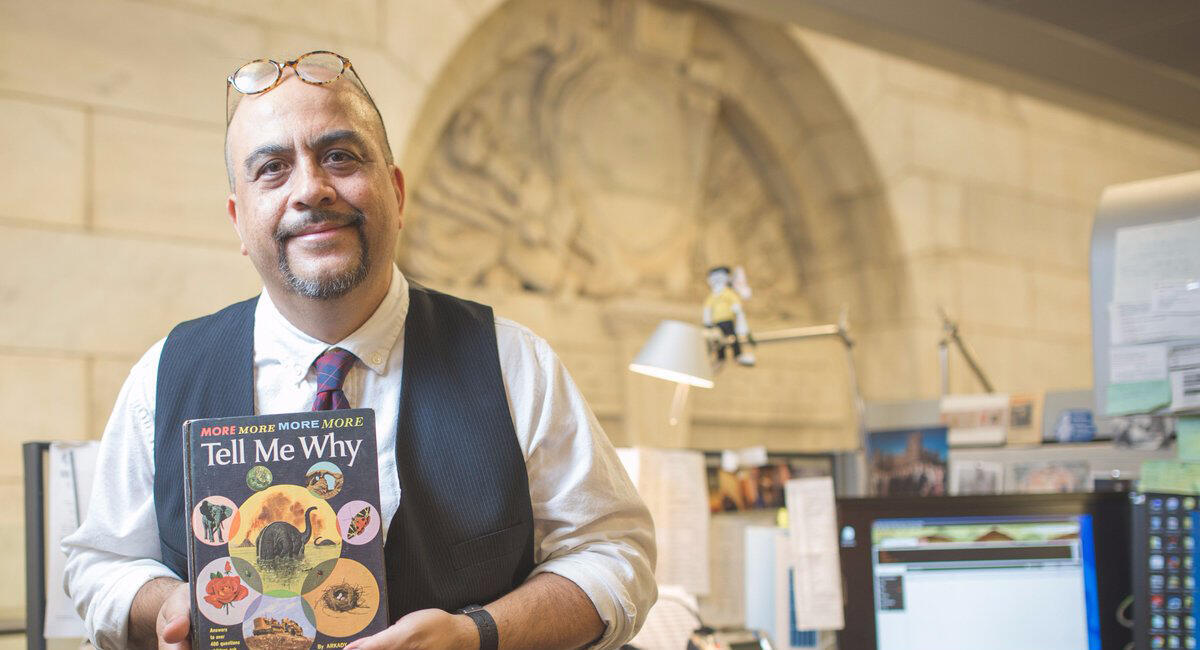 James Souce at New York city's public library works to answer all types of questions
