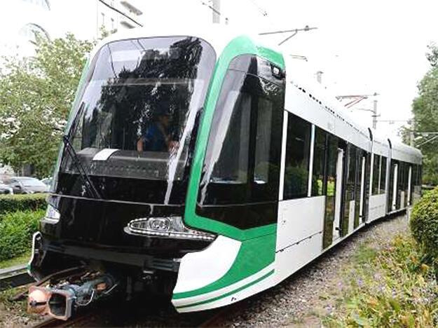Une rame du futur tramway d'Addis Abeba en Ethiopie.