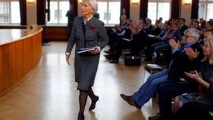 国际货币基金总裁拉加德在柏林 2018年3月26日