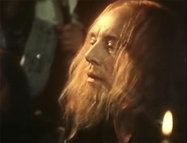 Иннокентий Смоктуновский в фильме «Откровение Иоанна Первопечатника», 1991.