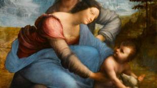'Santa Ana con la Virgen y el Niño', de Leonardo da Vinci (después de restauración).