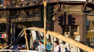 A quake-damaged building in Christchurch