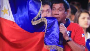 Tổng thống Philippines Rodrigo Duterte tại Manila ngày 07/05/2016.