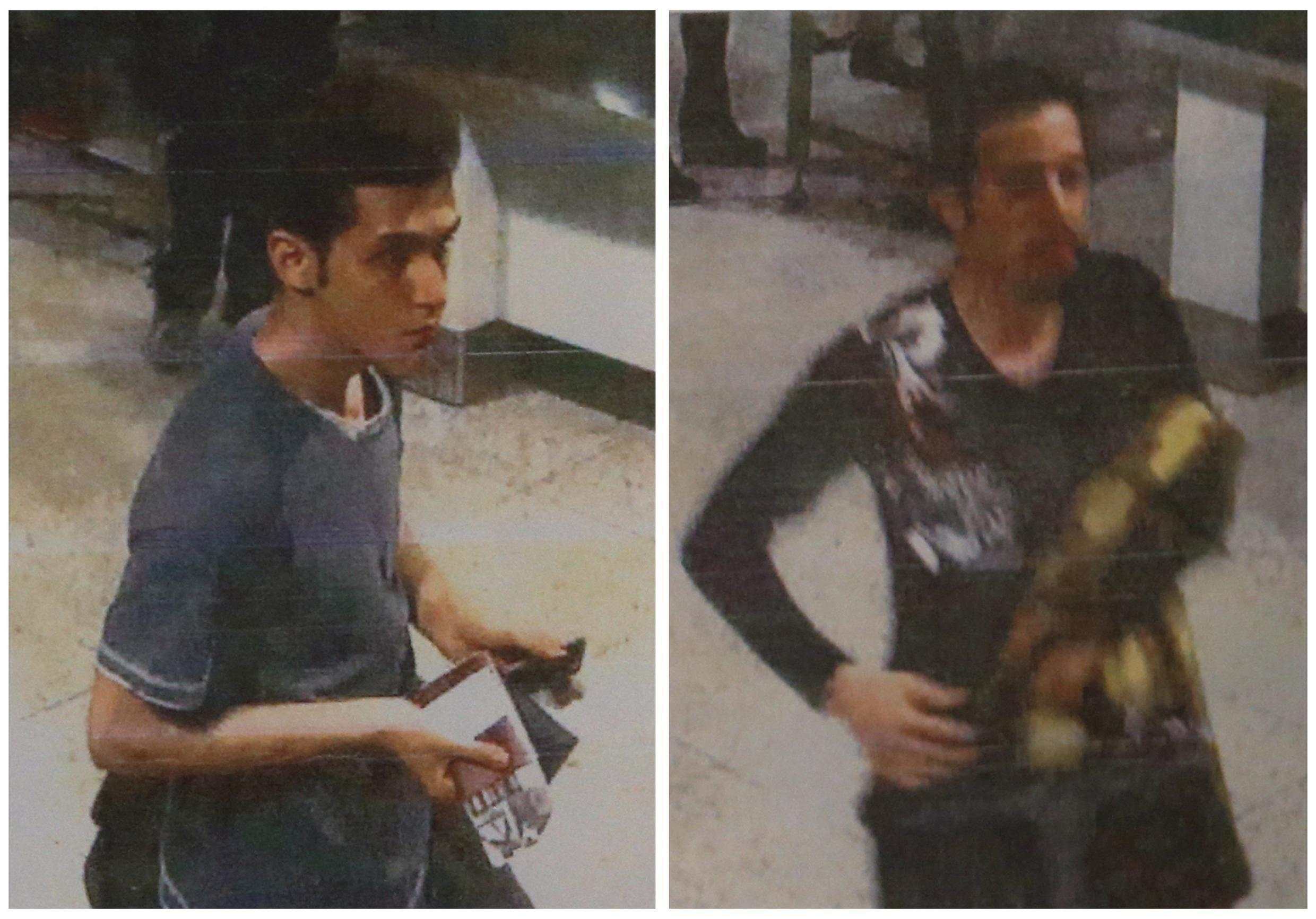 The two men whom police said were travelling on stolen passports onboard the missing Malaysia Airlines MH370 plane