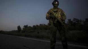 Украинский солдат, Донецкая область, 28 сентября 2014 г.