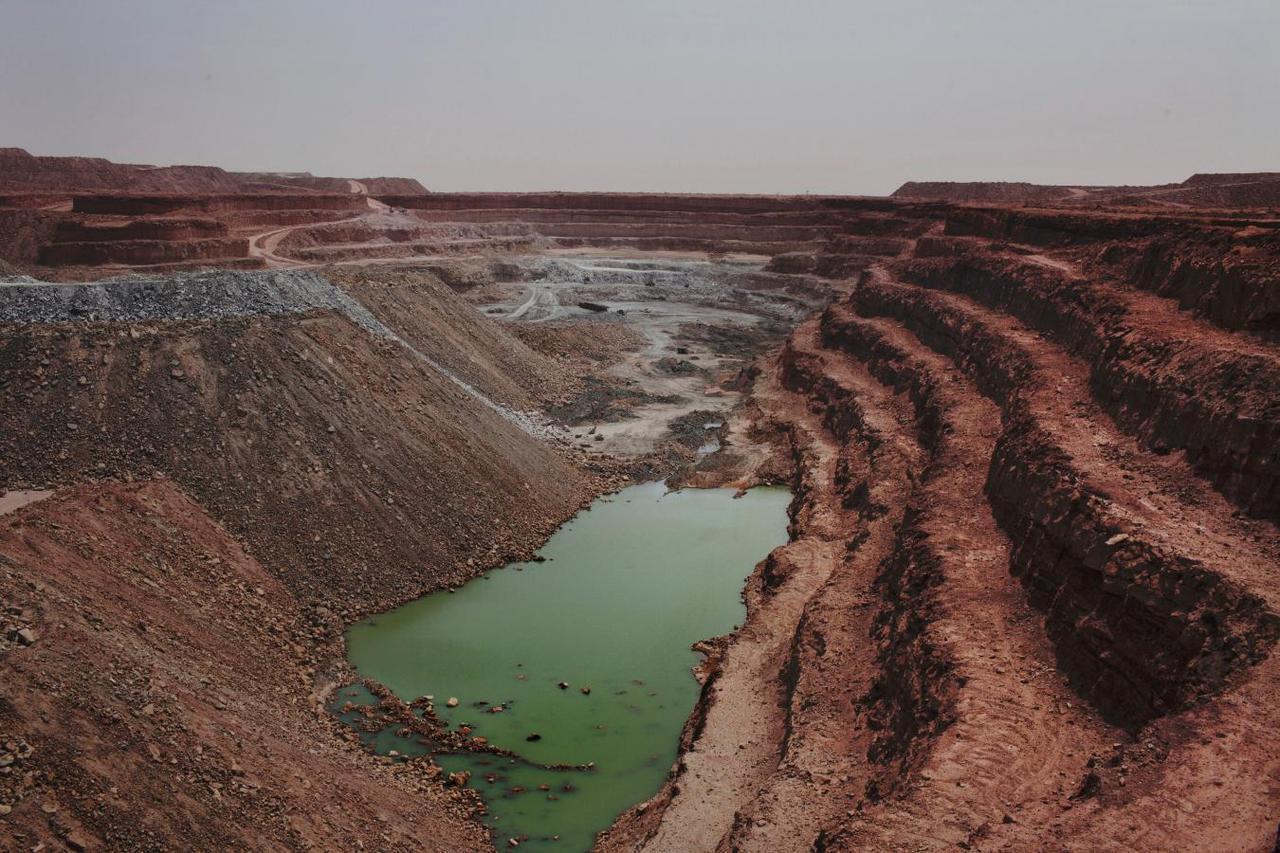Wajen hakar uranium a Arlit, Jamhuriyar Nijar