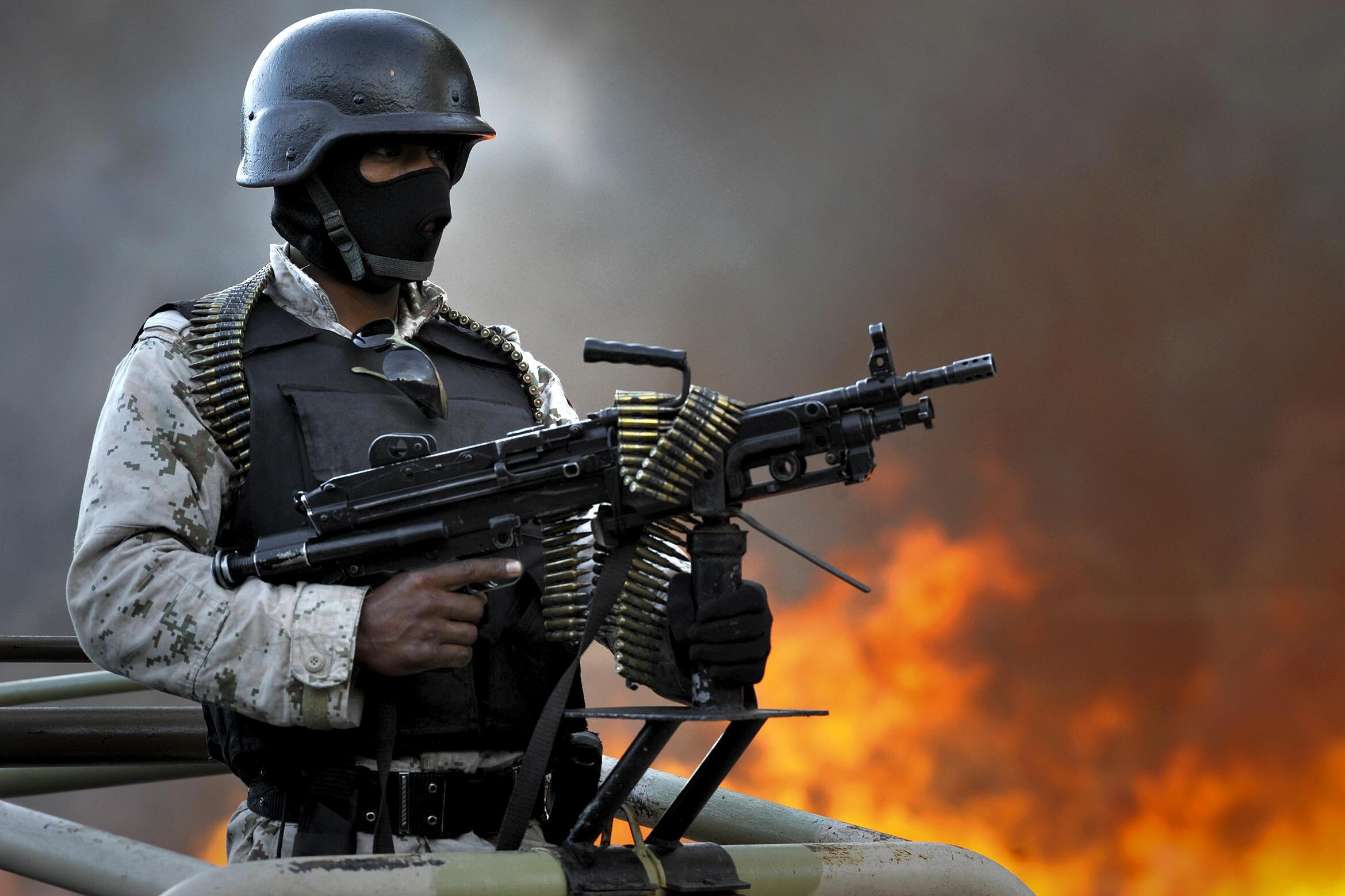L'armée mexicaine en lutte contre les cartels de la drogue.