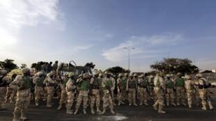 Arrivée du premier contingent nigérian à Bamako, le 18 janvier 2013.