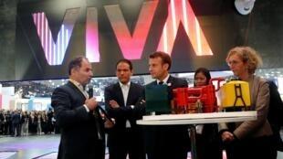 Tổng thống Pháp Emmanuel Macron thăm triển lãm công nghệ VivaTech, tổ chức tại Paris từ 16-18/05/2019.