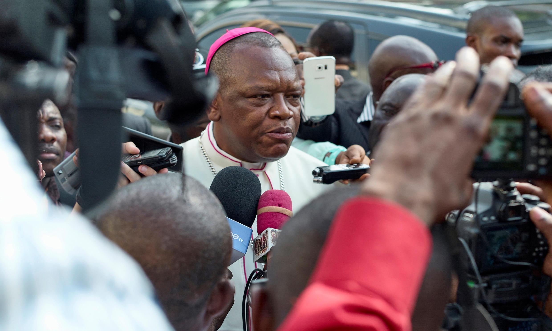 Askofu Marcel Utembi, rais wa baraza la maaskofu wa kanisa katoliki nchini DRC, ambao wamesimamia kufikiwa kwa makubaliano ya kisiasa mwishoni mwa juma.