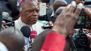 Marcel Utembi, président de la Conférence épiscopale nationale de la RDC (Cenco), le 30 décembre 2016 à Kinshasa.