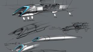 El concepto del Hyperloop, revelado en 2013 por su inventor Elon Musk.
